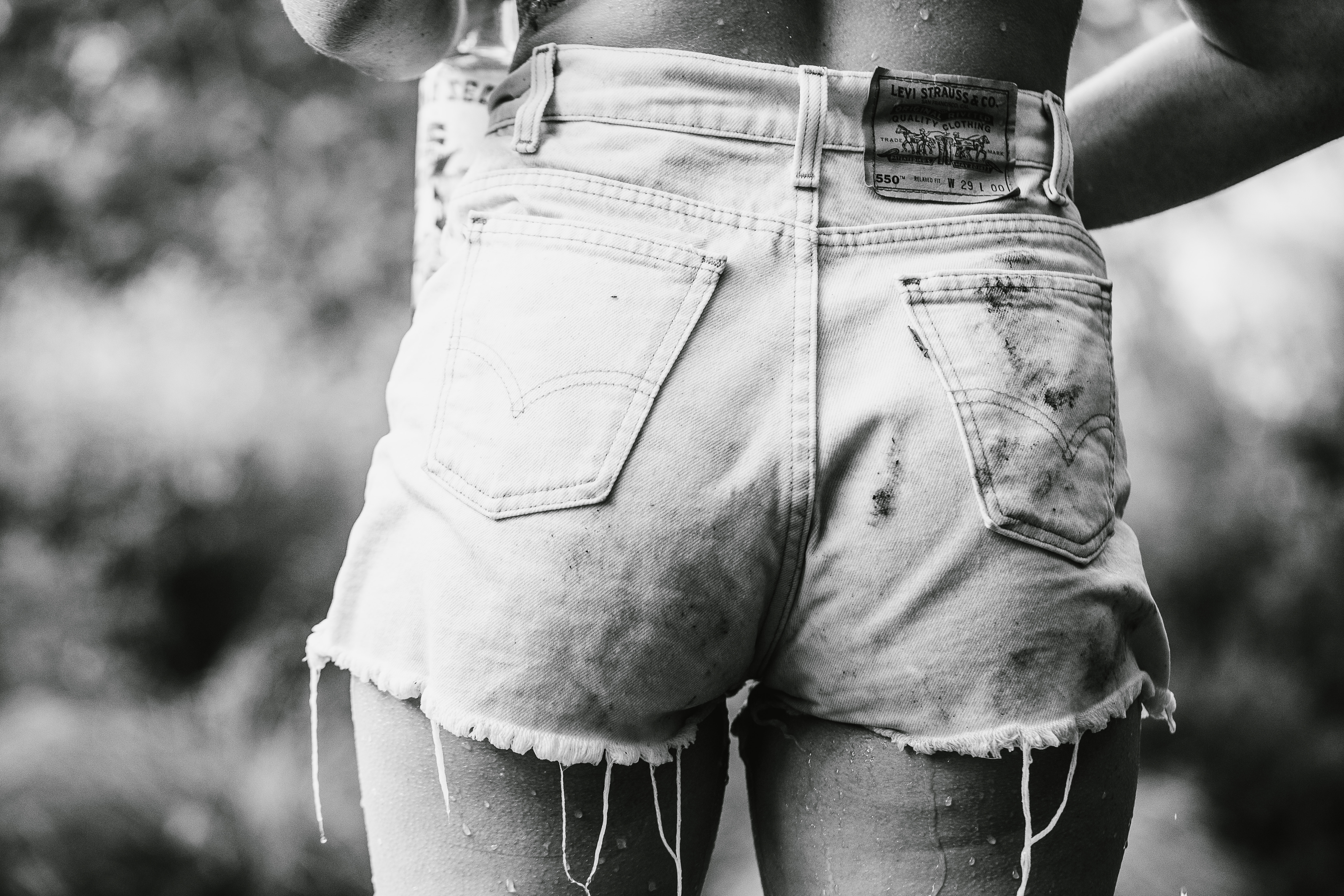 Fesses femme short en jean